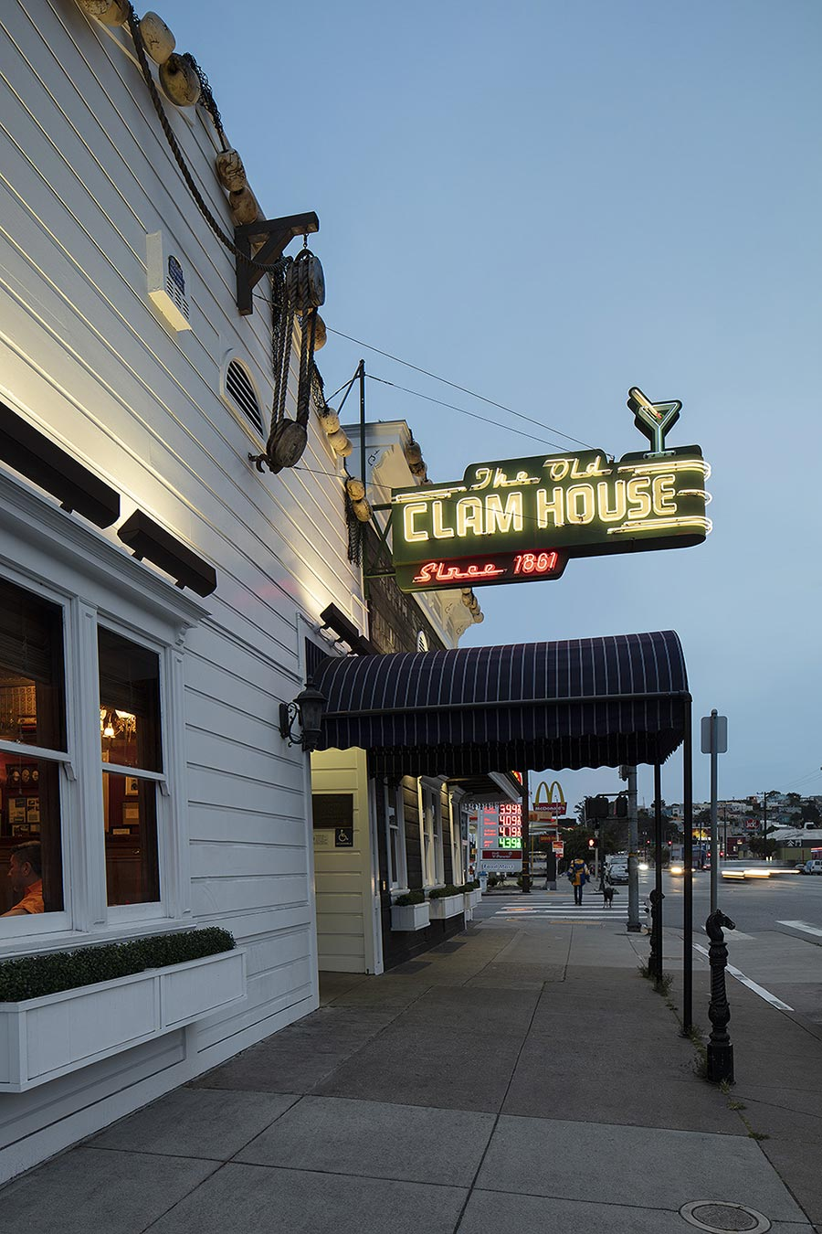Exterior of The Old Clam House